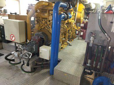 Hydrogenerator - Hydrogenerator aangesloten op een Caterpillar 3508